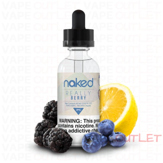 Naked 100 Really Berry 60mL eLiquid blueberry and